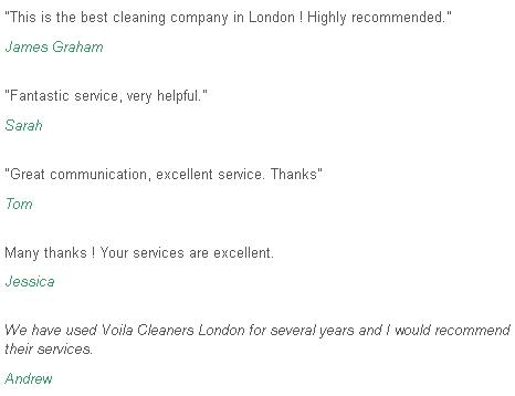 Feedback Chiswick cleaners